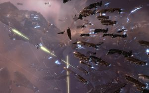 Large fleet of ships